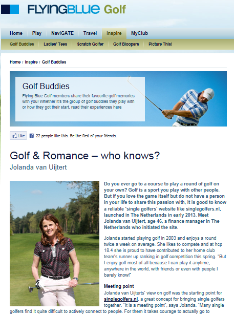 Golfers dating website